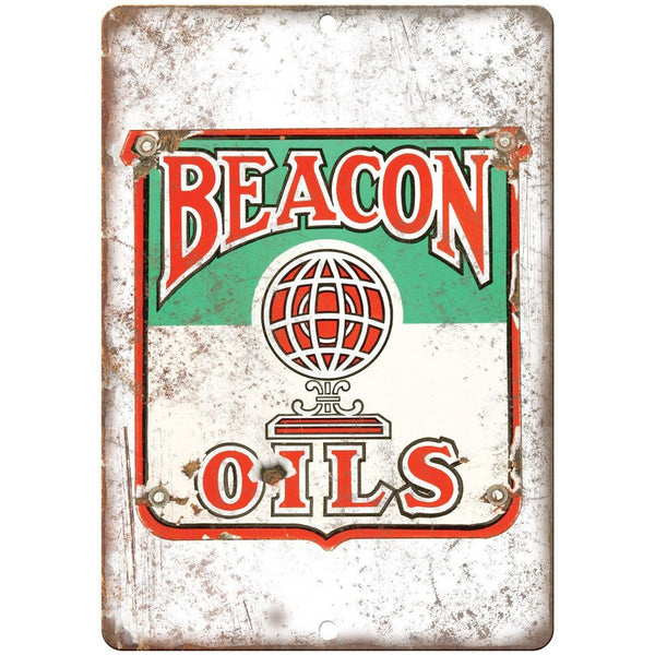Beacon Oils Porcelain Look Reproduction Metal Sign U123