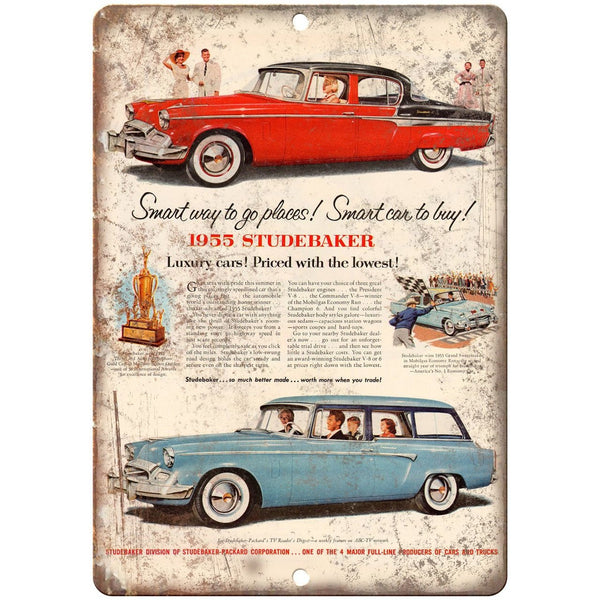 "1955 Studebaker Packard Luxury Car 10"" x 7"" Reproduction Metal Sign A446"
