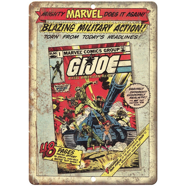 "GI Joe Real American Hero Comic Book Ad 10"" X 7"" Reproduction Metal Sign J171"