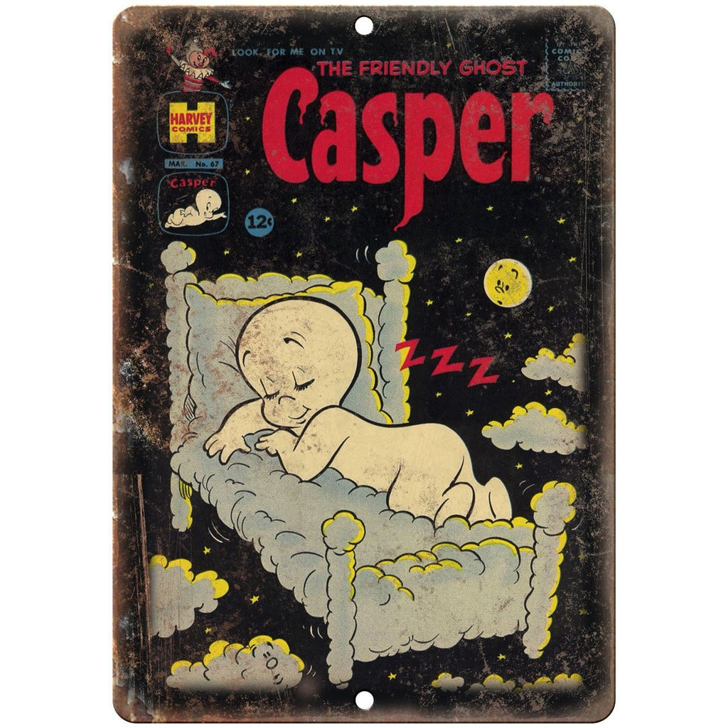 "Casper The Friendly Ghost Harvey Comics 10"" X 7"" Reproduction Metal Sign J193"