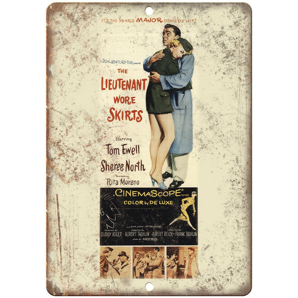 "The Lieutenant Wore Skirts Cinemascope Ad 10"" X 7"" Reproduction Metal Sign I152"