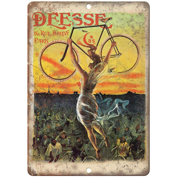 "Deesse Bicycle Vintage Ad 10"" x 7"" Reproduction Metal Sign B343"