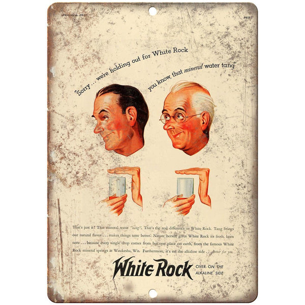 "White Rock Alkaline Vintage Ad 10"" X 7"" Reproduction Metal Sign N248"