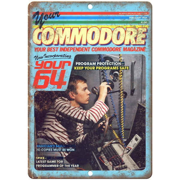 "Your Commodore Mag Vintage Video Gaming 10"" x 7"" Reproduction Metal Sign G297"