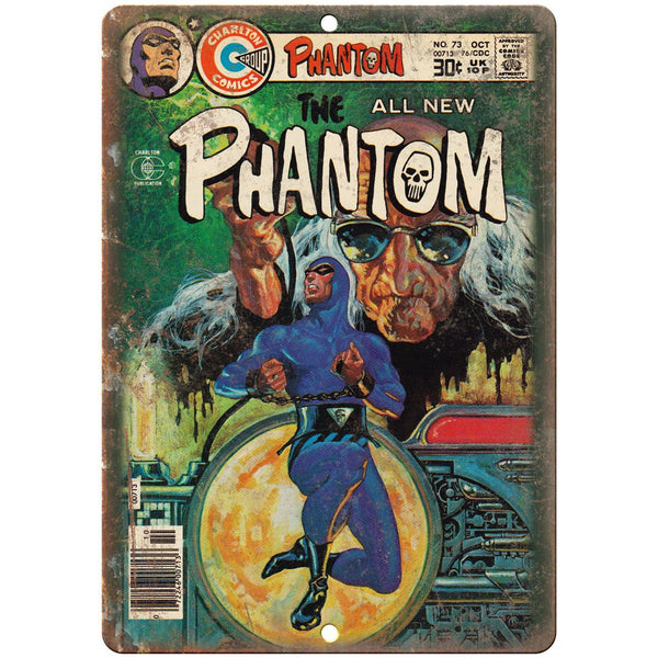 "The Phantom No 73 Comic Book Cover 10"" x 7"" Reproduction Metal Sign J710"