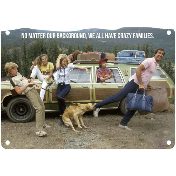 "Vegas Vacation Crazy Family Quote10"" x 7"" Reproduction Metal Sign"