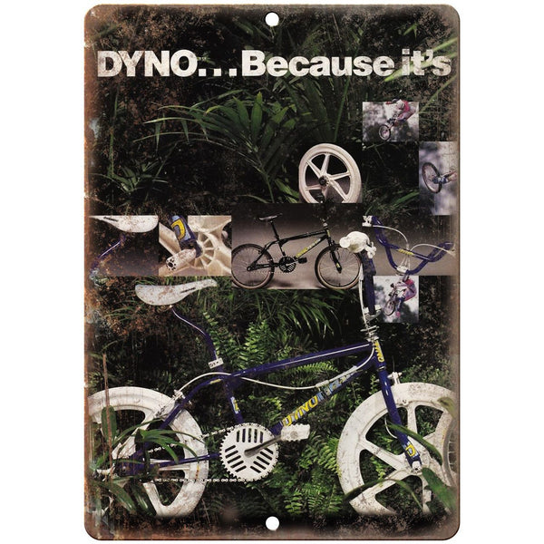 "Dyno Freestyle BMX Vintage Ad 10"" x 7"" Reproduction Metal Sign B462"