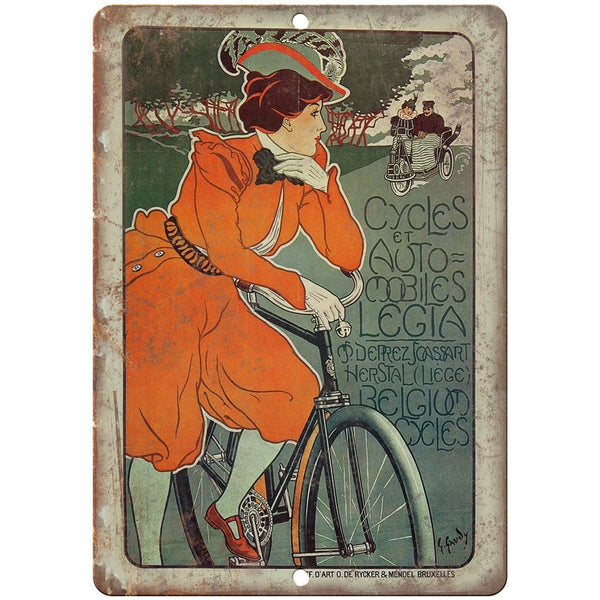 "Grand Manege Central Bicycle Vintage Ad 10"" x 7"" Reproduction Metal Sign B335"