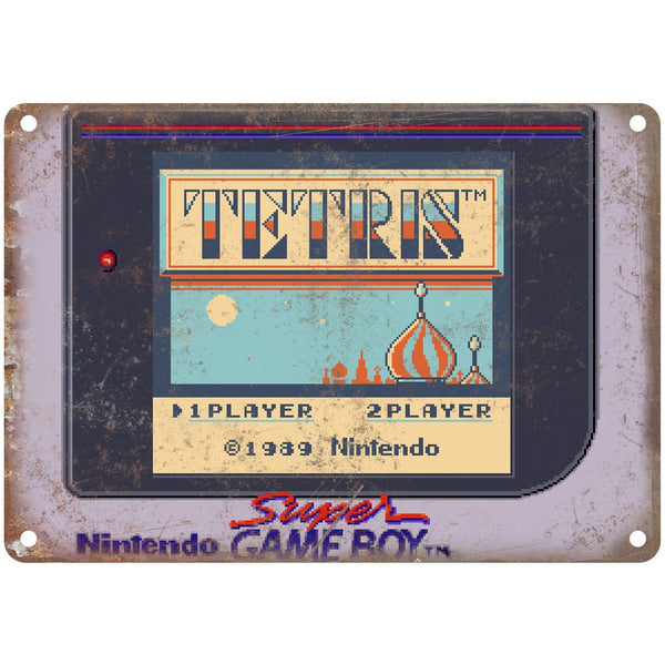 "Nintendo Super Game Boy Teteris Star Screen 10""x7"" Reproduction Metal Sign G126"