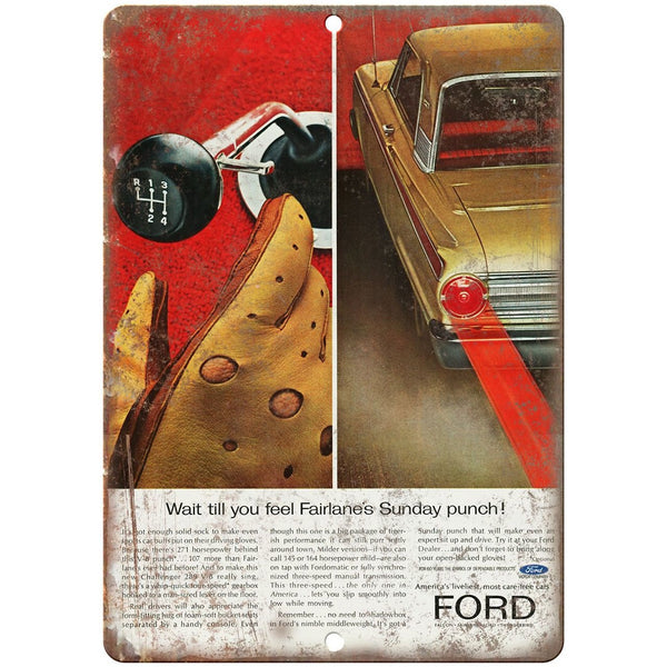 "1963 - Ford Challenger Vintage Ad - 10"" x 7"" Retro Look Metal Sign"
