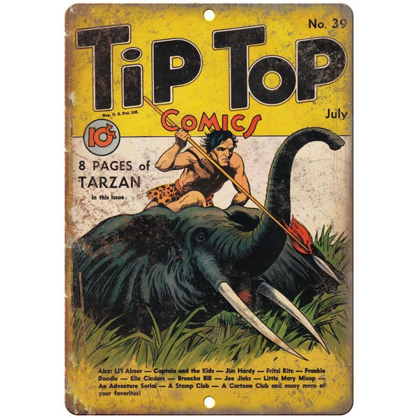 "Tip Top Comic No 39 Book Cover Vintage Ad 10"" x 7"" Reproduction Metal Sign J655"