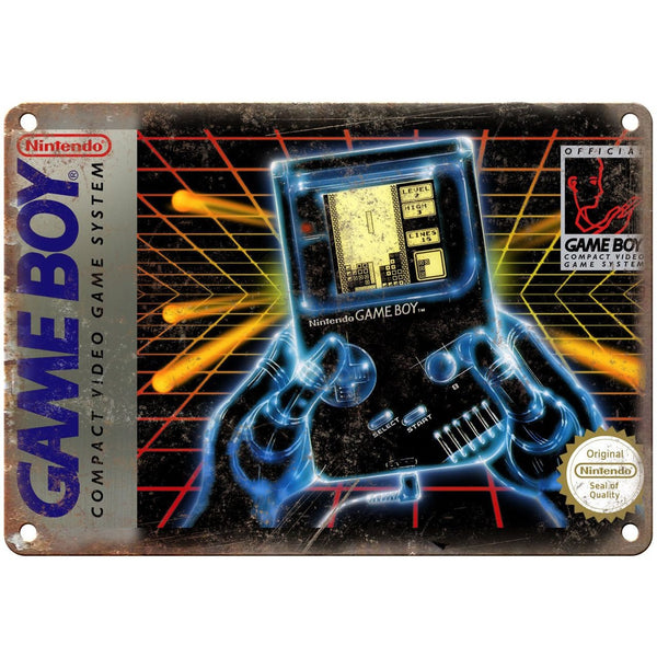 "Nintendo Game Boy Box Art Retro Gaming 10"" x 7"" Reproduction Metal Sign"