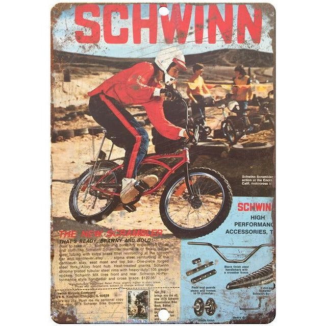 1976 Schwinn vintage advertising 10' x 7' reproduction metal sign
