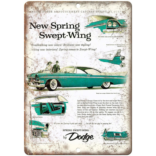 "1958 Dodge Custom Royale Vintage Ad 10"" x 7"" Reproduction Metal Sign"
