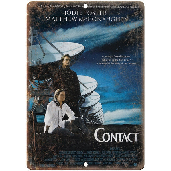 "Contact Movie Matthew Mcconaughey Movie Poster 10"" x 7"" Retro Look Metal Sign"
