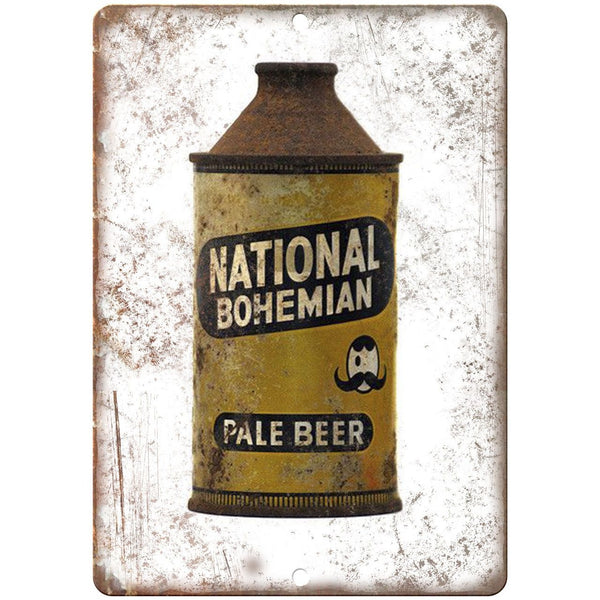 "National Bohemian Beer Can Mr. Boh's 10"" x 7"" Retro Look Metal Sign"