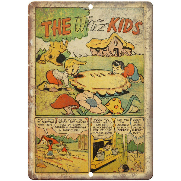 "The Whiz Kids Vintage Comic Strip 10"" x 7"" Reproduction Metal Sign J568"
