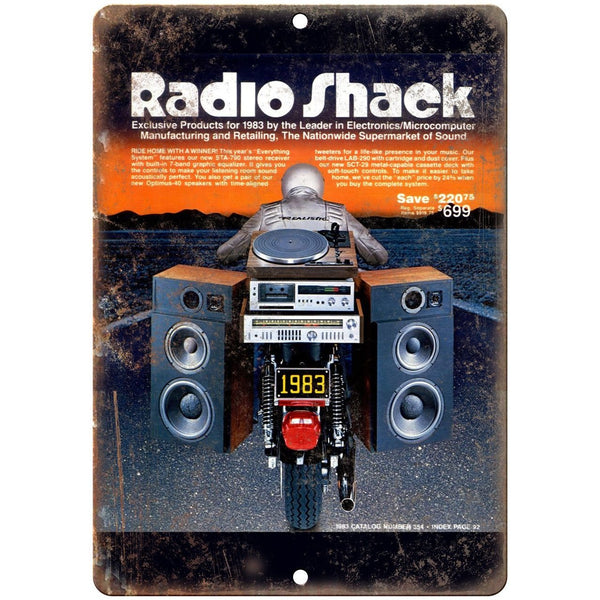 "Radio Shack 1983 Electronics Catalog Cover 10"" x 7"" Reproduction Metal Sign D36"