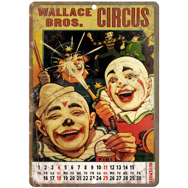 "Wallace Bros. Circus Vintage Poster 10"" X 7"" Reproduction Metal Sign ZH22"