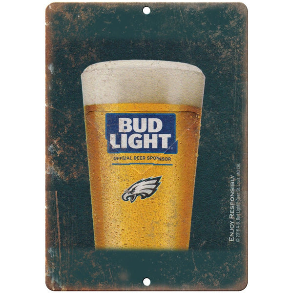 "Bud Light Beer Vintage Man Cave Ad 10"" x 7"" Reproduction Metal Sign E257"