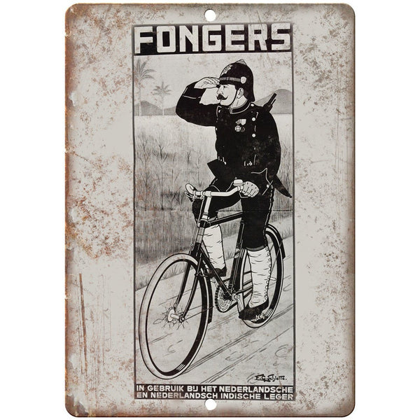 "Fongers Bicycle Vintage Ad 10"" x 7"" Reproduction Metal Sign B357"
