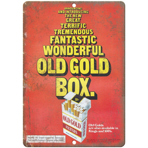 "Old Gold Filters Cigarette Ad Kings 100's 10"" X 7"" Reproduction Metal Sign Y08"