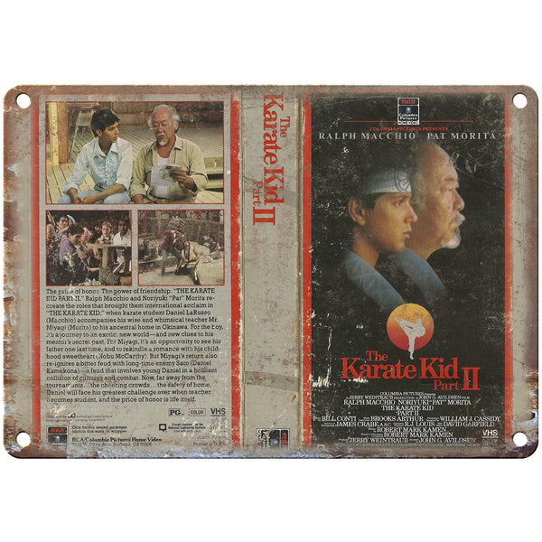 "The Karate Kid Part II Ralph Macchio VHS 10"" X 7"" Reproduction Metal Sign V32"