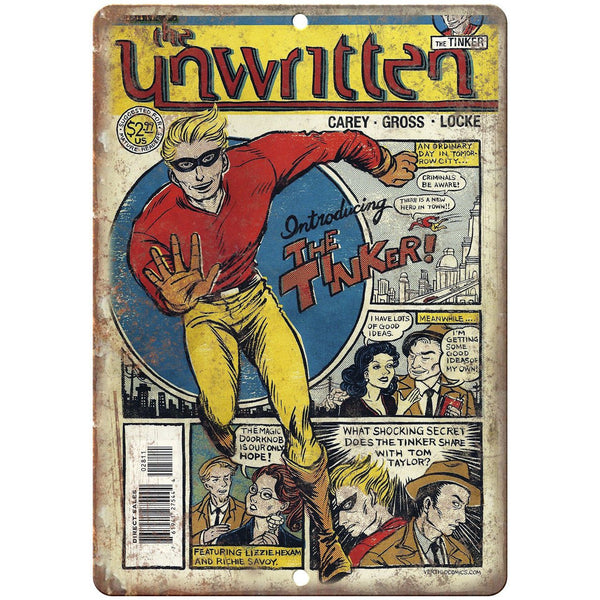 "The Unwritten Comic Book Cover Art 10"" x 7"" Reproduction Metal Sign J644"