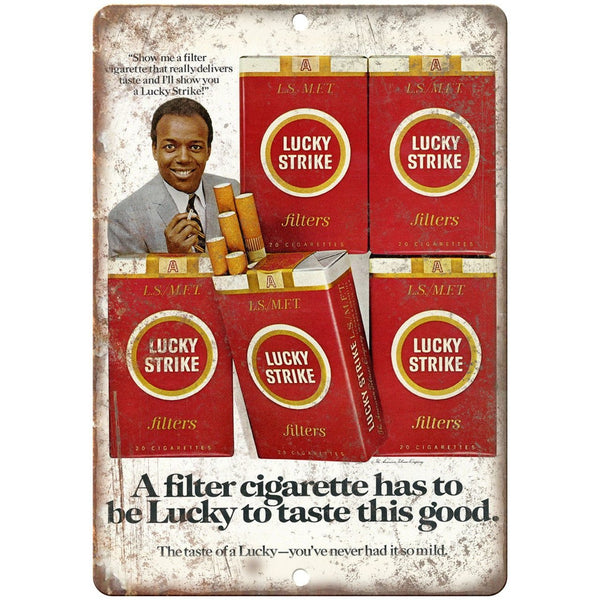 "Lucky Strike Filter Cigarette Ad 10"" X 7"" Reproduction Metal Sign Y11"