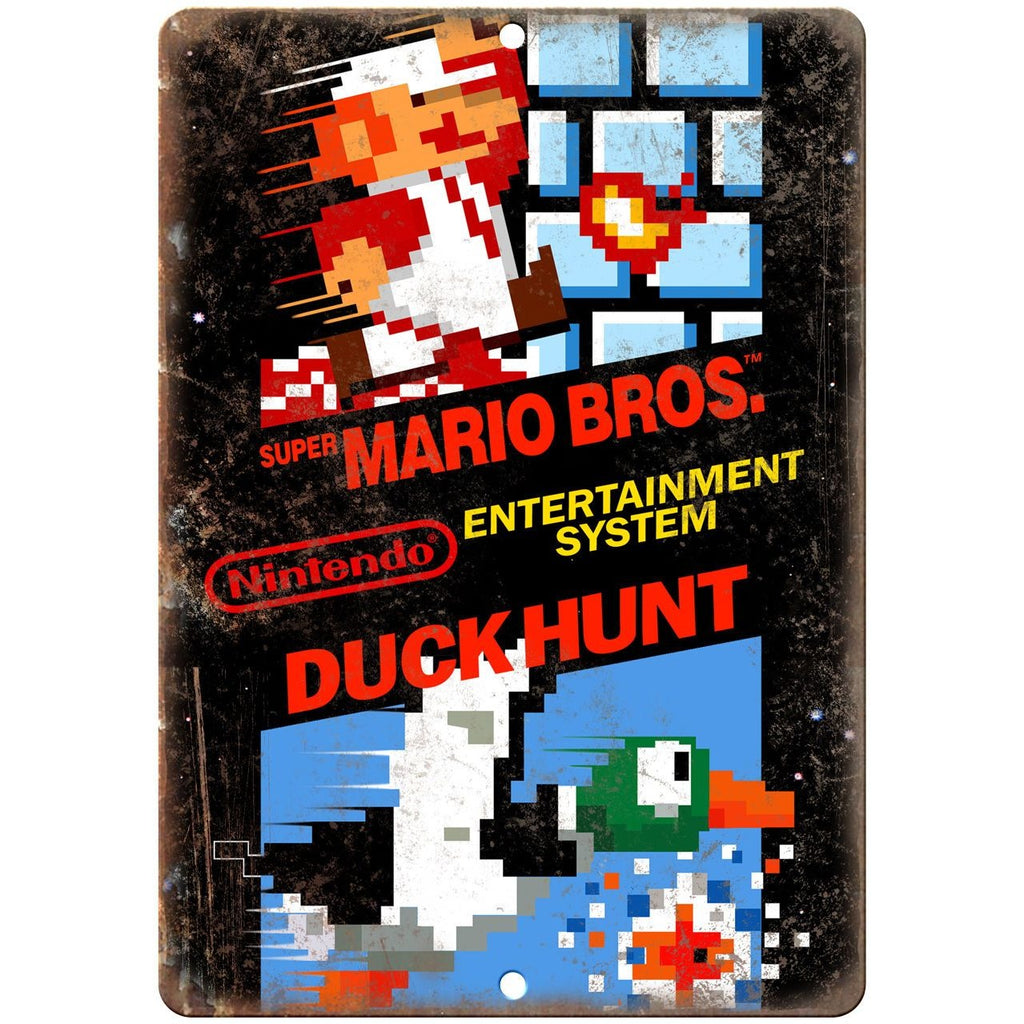"Nintendo Super Mario Brothers Duck Hunt - 10"" x 7"" Reproduction Metal Sign"