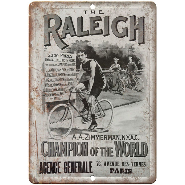 "The Raleigh Bicycle Vintage Ad 10"" x 7"" Reproduction Metal Sign B338"
