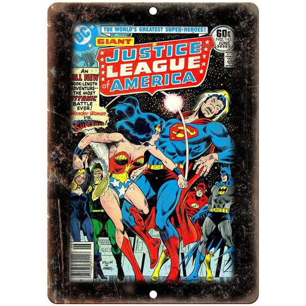 "DC Comics Justice League America No 143 Comic 10""x7"" Reproduction Metal Sign J11"