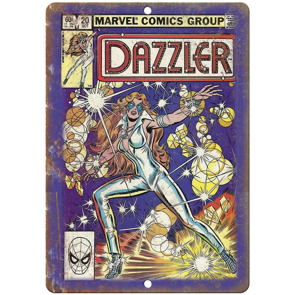 "Dazzler Vintage Comic Book Art 10"" X 7"" Reproduction Metal Sign J221"