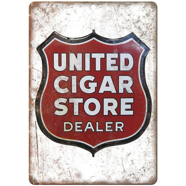 United Cigar Store Dealer Porcelain Look Reproduction Metal Sign U131