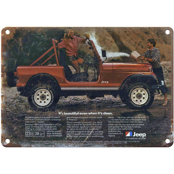 "1980 Jeep Renegade 10"" x 7"" Reproduction Metal Sign"