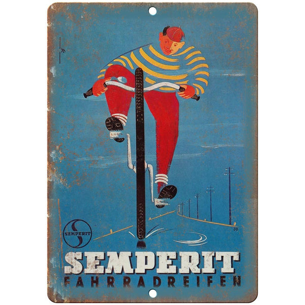 "Semperit Bicycles Vintage Ad 10"" x 7"" Reproduction Metal Sign B363"