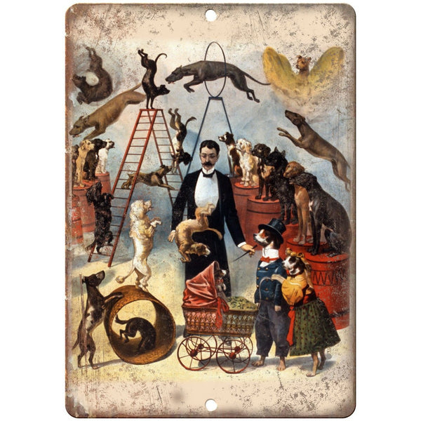 "Vintage Circus Act Traveling Poster 10"" X 7"" Reproduction Metal Sign ZH135"