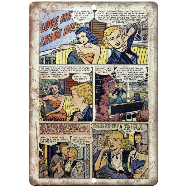"Ace Comics Love Me or Leave Me Comic Strip 10"" X 7"" Reproduction Metal Sign J404"