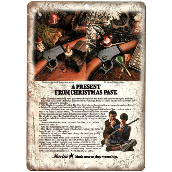 "Marlin Firearms Rifle Auto Loading Bolt Action 10"" x 7"" Reproduction Metal Sign"