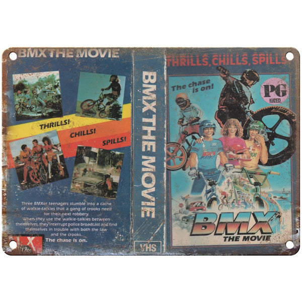 "BMX The Movie VHS Cover 10"" x 7"" Reproduction Metal Sign"