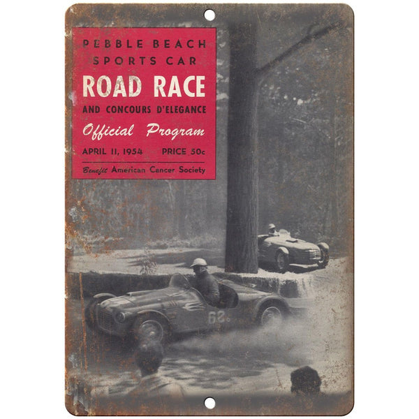 "1954 Pebble Beach Sports Car Road Race 10"" X 7"" Reproduction Metal Sign A616"