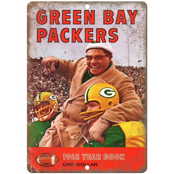 "1962 Green Bay Packers Year Book 10"" x 7"" Vintage Look Reproduction"