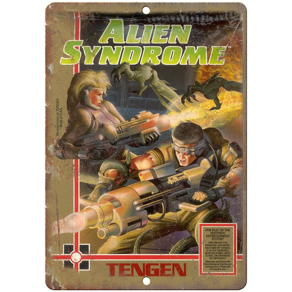 "Alien Syndrome Tangen Video Game 10"" x 7"" Reproduction Metal Sign A01"