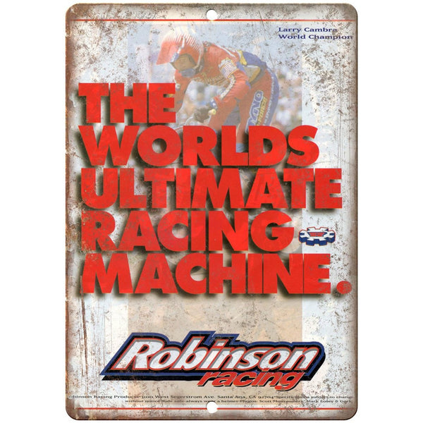"Robinson Racing Bmx 10"" x 7"" Metal Sign Vintage Look Reproduction"
