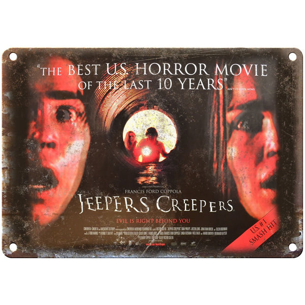 "10"" x 7"" Metal Sign - Jeepers Creepers Francis Coppola - Vintage Reproduction"