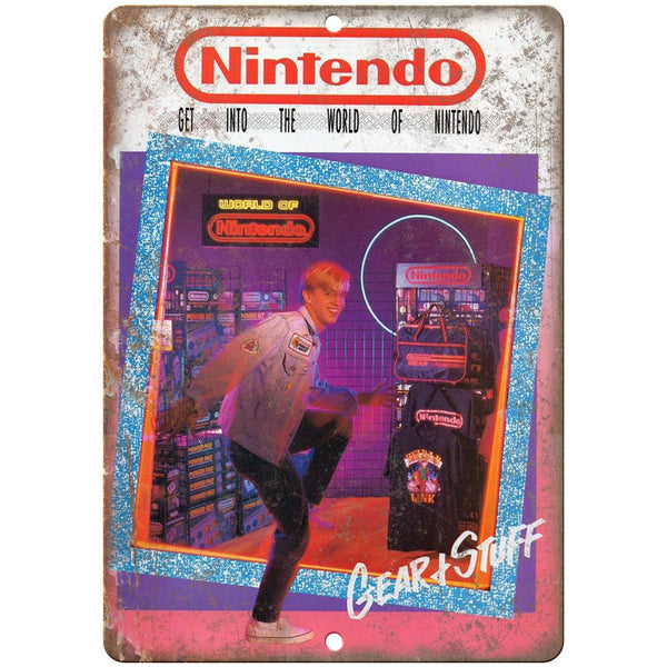 "Nintendo Gear and Stuff Retro Ad 10"" x 7"" Reproduction Metal Sign A15"
