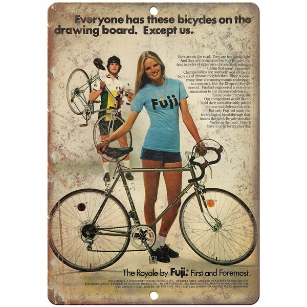 "Fuji Royale Cycle Bicycle Ad 10"" x 7"" Reproduction Metal Sign B216"