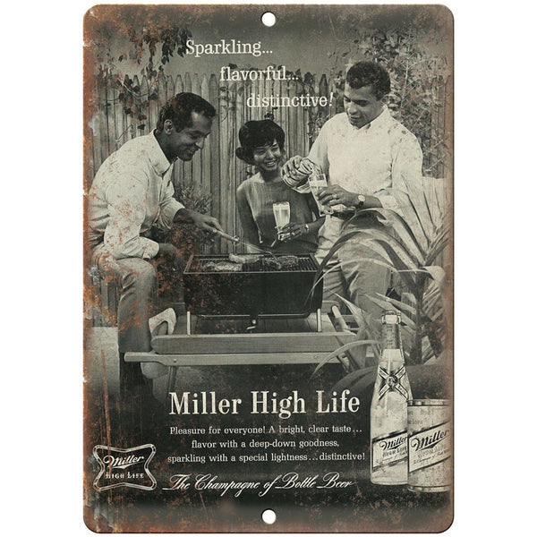"Miller High Life Vintage Beer Breweriana 10"" x 7"" Reproduction Metal Sign E394"