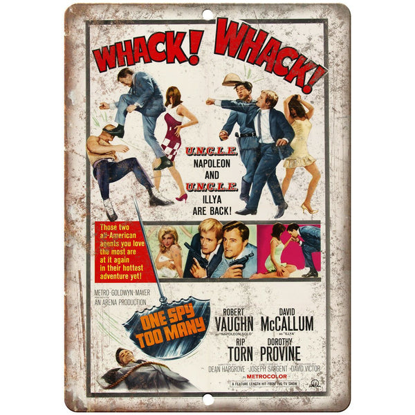 "One Spy Too Many Vintage Movie Poser 10"" X 7"" Reproduction Metal Sign I133"