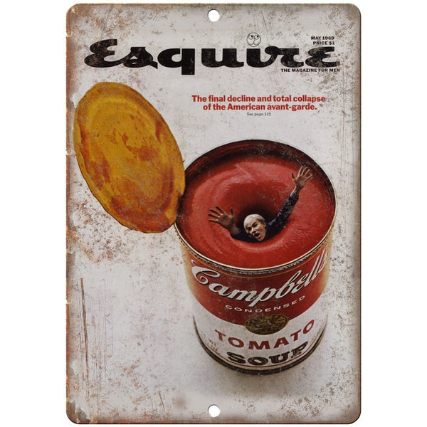 "Esquire Magazine Andy Warhol May 1969 10"" x 7"" Reproduction Metal Sign C73"